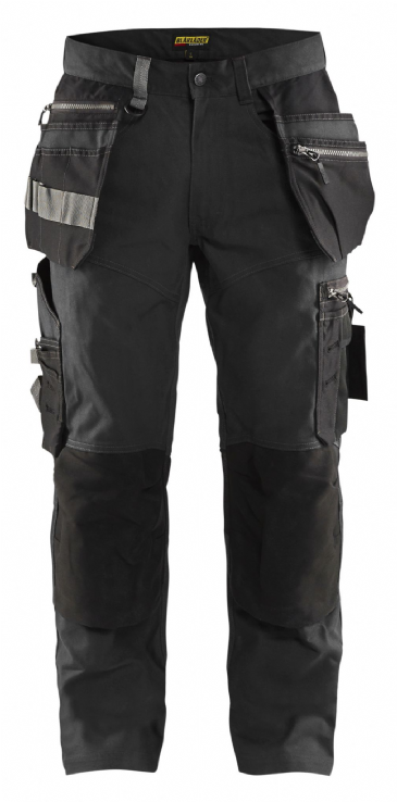 "CLEARANCE Blaklader 1590 Craftsman Trousers with Stretch (Dark Grey/Black) C60 44""W 34""L"
